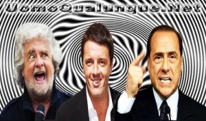 Grillo-Renzi-Berlusconi-ipnosi